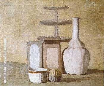Still Life 1960 By Georgio Morandi Replica Paintings on Canvas - Reproduction Gallery