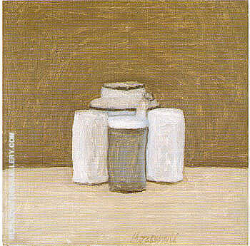 Still Life 1961 Painting By Georgio Morandi - Reproduction Gallery