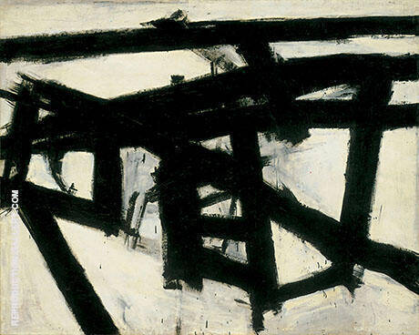 Mahoning 1956 By Franz Kline Replica Paintings on Canvas - Reproduction Gallery