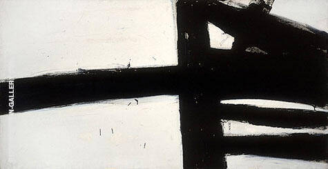 Hazelton 1957 By Franz Kline Replica Paintings on Canvas - Reproduction Gallery