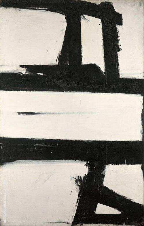 Reproduction of Untitled 1952 by Franz Kline | Oil Painting Replica On CanvasReproduction Gallery