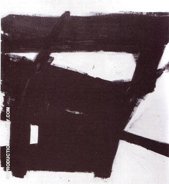 Wanamaker Block 1955 By Franz Kline - Oil Paintings & Art Reproductions - Reproduction Gallery
