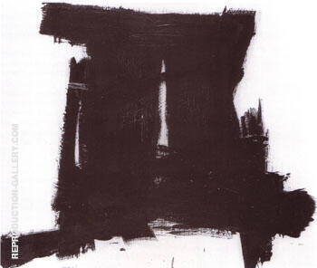 Shaft 1955 By Franz Kline - Oil Paintings & Art Reproductions - Reproduction Gallery
