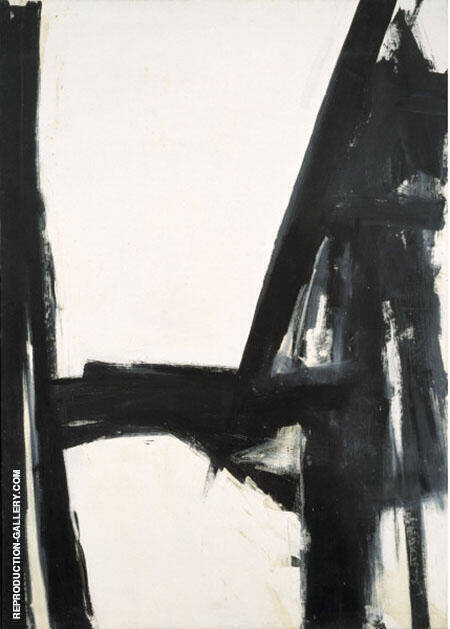 Slate Cross By Franz Kline - Oil Paintings & Art Reproductions - Reproduction Gallery