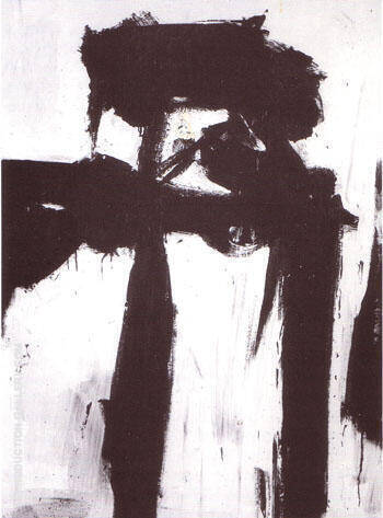 Figure 1956 Painting By Franz Kline - Reproduction Gallery