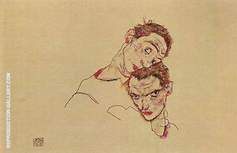 Untitled 1910 By Egon Schiele - Oil Paintings & Art Reproductions - Reproduction Gallery
