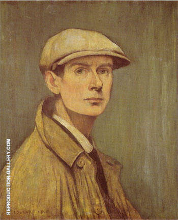 Self Portrait 1925 By L-S-Lowry - Oil Paintings & Art Reproductions - Reproduction Gallery