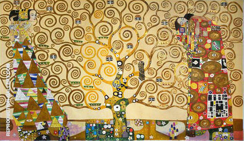 Tree of Life Stoclet Frieze By Gustav Klimt