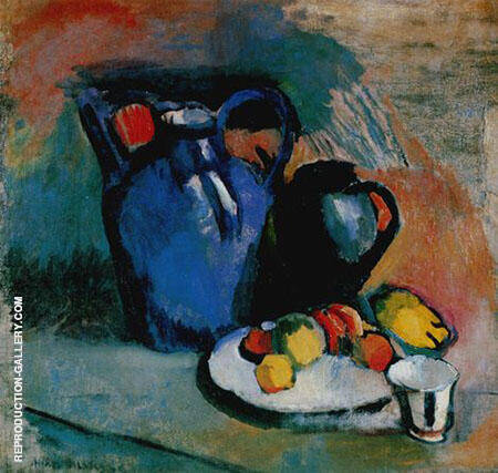 Still Life with Blue Jug By Henri Matisse