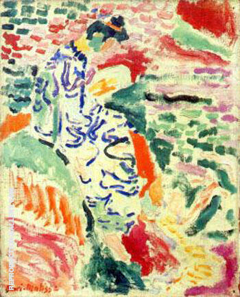 Woman in Japanese Robe beside the Water 1905 By Henri Matisse
