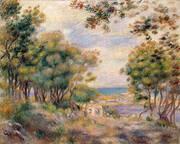 Landscape at Beaulieu 1899 By Pierre Auguste Renoir