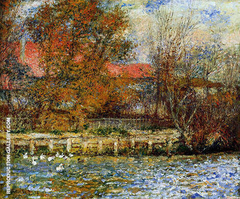 Duck Pond 1873 By Pierre Auguste Renoir