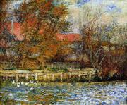Duck Pond 1873 By Pierre Auguste Renoir