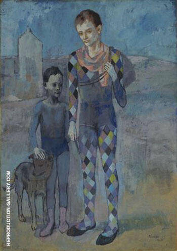 Reproduction of Two Acrobats with a Dog 1905 by Pablo Picasso | Oil Painting Replica On CanvasReproduction Gallery