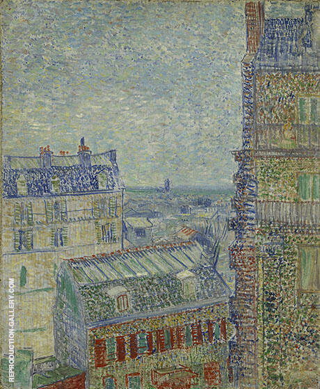 View of Paris from Theo's Room in the Rue Lepic 1887 Painting By ...