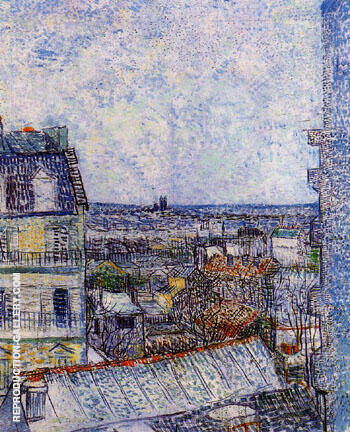 View of Paris from Vincent's Room in the Rue Lepic 1887 (2) By Vincent van Gogh