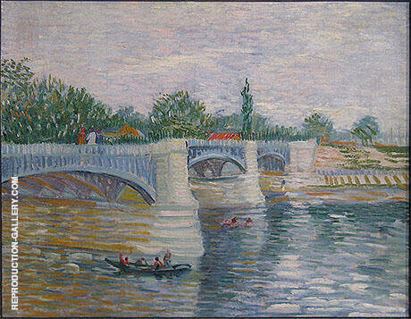 The Seine with the Pont de la Grande Jatte 1887 By Vincent van Gogh - Oil Paintings & Art Reproductions - Reproduction Gallery