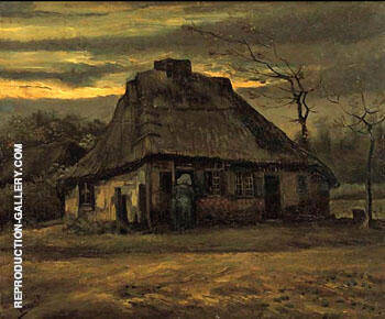 The Cottage 1885 By Vincent van Gogh - Oil Paintings & Art Reproductions - Reproduction Gallery