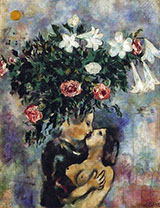 Lovers Under Lilies 1922 By Marc Chagall