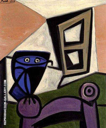 Hibou sur une Chaise 1947 Painting By Pablo Picasso - Reproduction Gallery