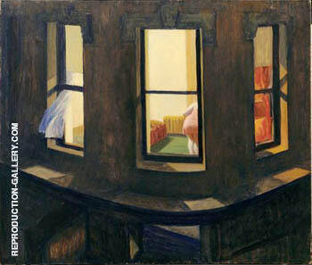Night Windows. 1928 By Edward Hopper - Oil Paintings & Art Reproductions - Reproduction Gallery