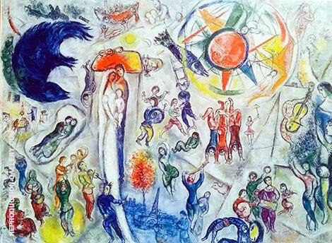 La Vie 1964 Painting By Marc Chagall - Reproduction Gallery