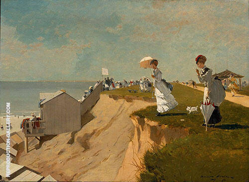 Long Branch New Jersey 1869 By Winslow Homer Replica Paintings on Canvas - Reproduction Gallery