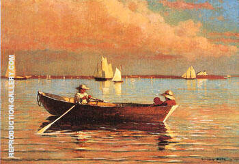 Gloucester Harbour 1873 By Winslow Homer - Oil Paintings & Art Reproductions - Reproduction Gallery