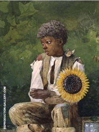 Taking Sunflower to Teacher 1875 By Winslow Homer - Oil Paintings & Art Reproductions - Reproduction Gallery