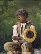 Taking Sunflower to Teacher 1875 By Winslow Homer