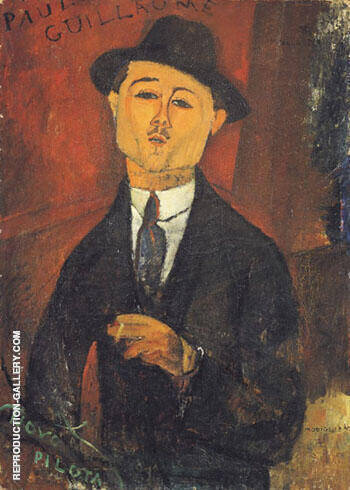 Portrait of Paul Guillaume 1915 By Amedeo Modigliani