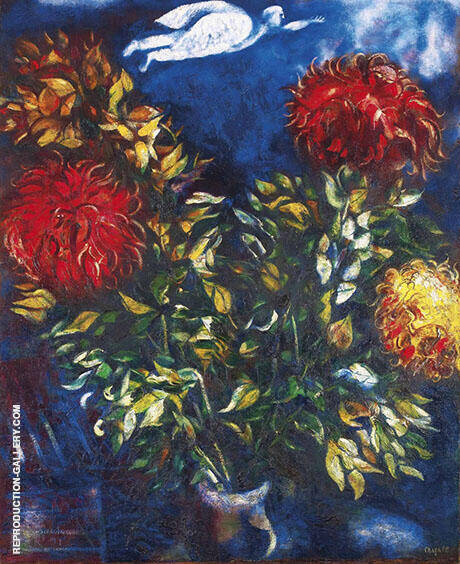 Chrysanthemums By Marc Chagall Replica Paintings on Canvas - Reproduction Gallery