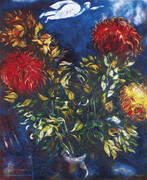 Chrysanthemums By Marc Chagall