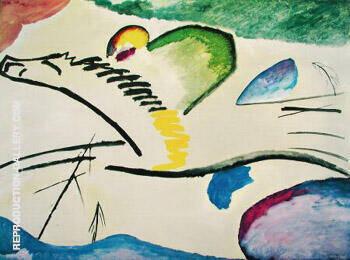 Lyric Man on a Horse By Wassily Kandinsky