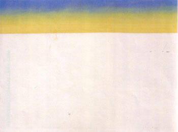 Sky above Flat White Cloud II By Georgia O'Keeffe