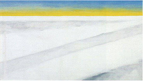 Clouds IV Yellow Horizon and Clouds 1963 Painting By Georgia O'Keeffe