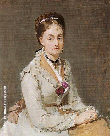 Portrait of Emma 1870 By Berthe Morisot - Oil Paintings & Art Reproductions - Reproduction Gallery