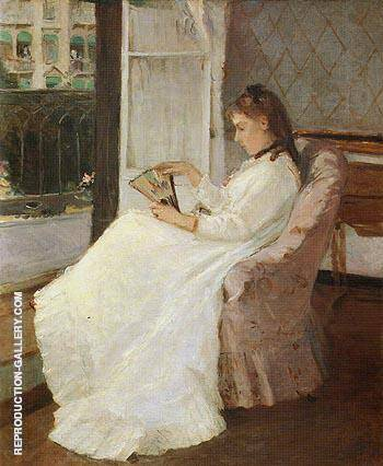 The Artists Sister at a Window 1869 By Berthe Morisot Replica Paintings on Canvas - Reproduction Gallery
