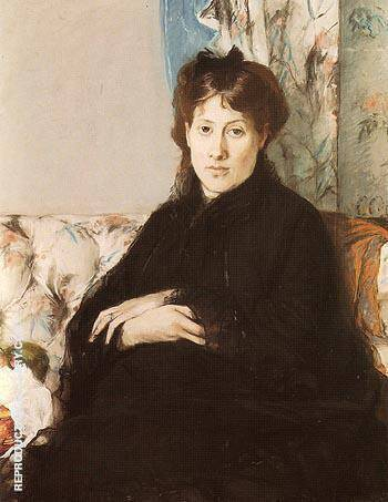 Portrait of Mme Pontillon 1871 By Berthe Morisot Replica Paintings on Canvas - Reproduction Gallery