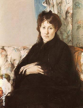 Portrait of Mme Pontillon 1871 By Berthe Morisot