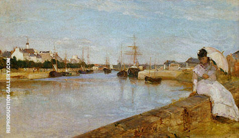 The Harbour at Lorient 1869 By Berthe Morisot Replica Paintings on Canvas - Reproduction Gallery