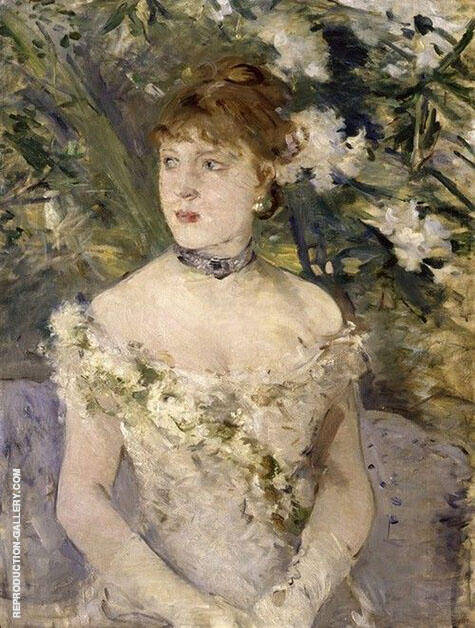 Reproduction of Young Woman Dressed for the Ball 1879 by Berthe Morisot | Oil Painting Replica On CanvasReproduction Gallery