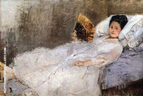 Portrait of Madame Hubbard 1874 By Berthe Morisot - Oil Paintings & Art Reproductions - Reproduction Gallery