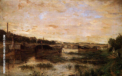 The Seine Below the Pont de Lena 1866 By Berthe Morisot - Oil Paintings & Art Reproductions - Reproduction Gallery