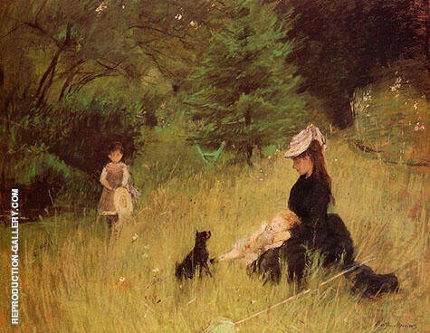 On the Lawn 1874 Painting By Berthe Morisot - Reproduction Gallery