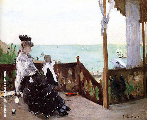 In a Villa at the Seaside 1874 By Berthe Morisot