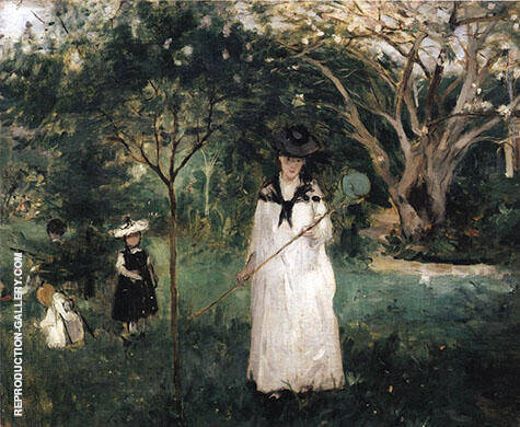 Chasing Butterflies 1874 By Berthe Morisot - Oil Paintings & Art Reproductions - Reproduction Gallery