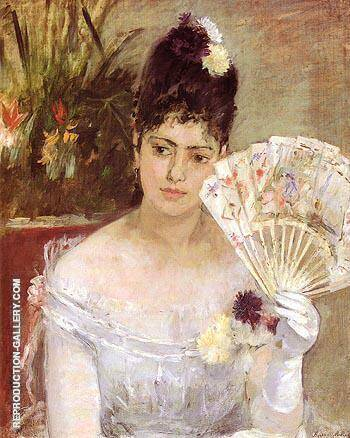 At the Ball 1875 Painting By Berthe Morisot - Reproduction Gallery
