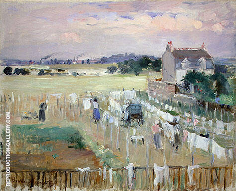 Hanging the Laundry out to Dry 1875 By Berthe Morisot