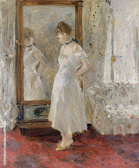 Psyche 1876 By Berthe Morisot - Oil Paintings & Art Reproductions - Reproduction Gallery